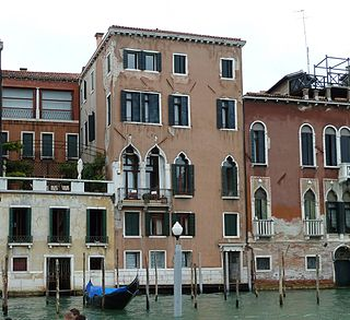 Palazzo Tiepolo Passi building in Venice, Italy