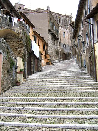 Palestrina - An old street in the city