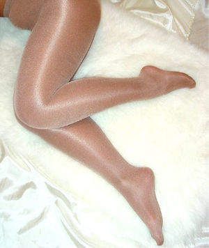 Own work, Woman wearing sheer pantyhose