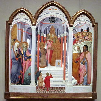 Paolo di Giovanni Fei - Presentation of the Virgin in National Gallery of Art