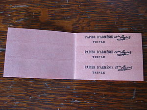 Papier d'Arménie - Sheets can be torn out for individual use