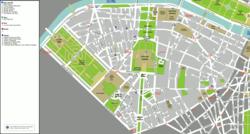 מפת הרובע השביעי של פריז