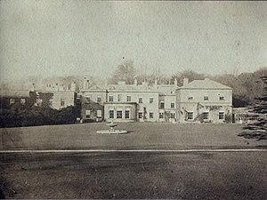 Parlington Hall - South elevation of Parlington Hall around the 1880s