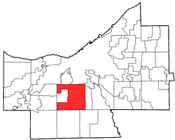 Location of Parma in Cuyahoga County (County Council District 4)