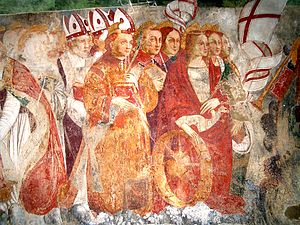 Paruzzaro - Detail of the Last Judgement fresco in the church of San Marcello, attributed to Sperindio Cagnola