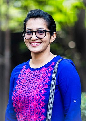 Parvathy (actress) - Image: Parvathy at Bangalore Naatkal Teaser Launch Press Meet