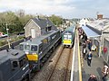 Passing trains at Castlerea station (geograph 6123439).jpg