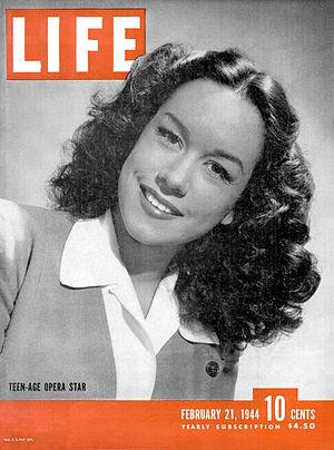 Patrice Munsel - Munsel on the cover of Life magazine (February 21, 1944)