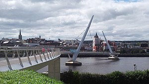Peace Bridge (Foyle) - Image: Peace Bridge Derry