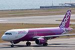 Peach Aviation ,MM177 ,Airbus A320-214 ,JA805P ,Departed to Nagasaki ,Kansai Airport (16800970621).jpg