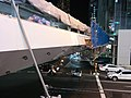 Pedestrian bridge construction in Shibuya, December 2018 10.jpg