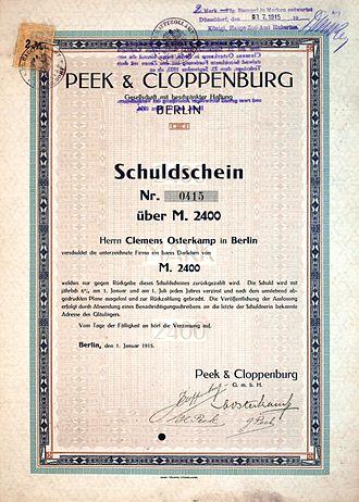 Peek & Cloppenburg - Image: Peek & Cloppenburg Gmb H 1915