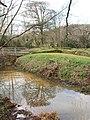 Penhallam Manor moat with bridge - geograph.org.uk - 714529.jpg