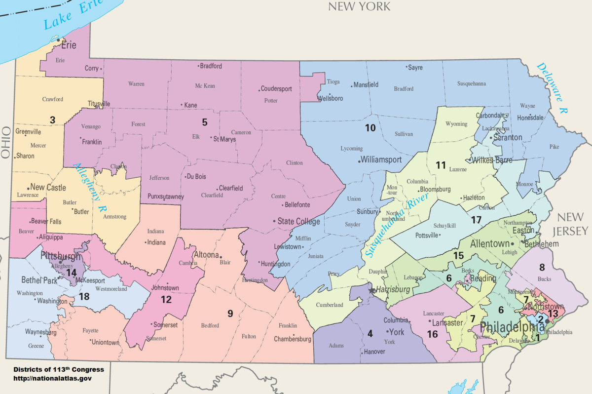 . pennsylvania's congressional districts  wikipedia