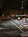 People acrossing Section 5, Minsheng East Road in Blackout 20170815.jpg