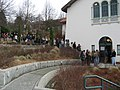 People file into the basement of the Fremont Public Library to caucus (2253014605).jpg