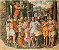 Perino Tarquino el Soberbio funda el templo de Jupiter Capitolino.jpg