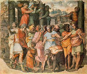 Tarquin le Superbe fondant le temple de Jupiter Capitolin
