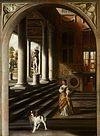 Perspective View with a Woman Reading a Letter by Samuel van Hoogstraten Mauritshuis 66.jpg
