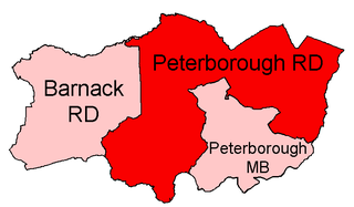 Peterborough Rural District former district of England
