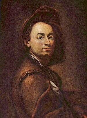Petr Brandl - Self-portrait of Petr Brandl, 1700
