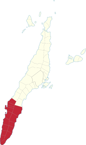 Legislative districts of Cebu - Map of the 2nd District of Cebu, 1987–2016
