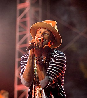 Superpower (song) - Image: Pharrell Williams – Coachella 2014 (cropped)