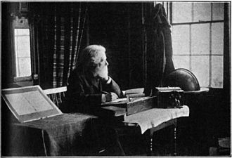 Philip James Bailey - Philip James Bailey in his study at