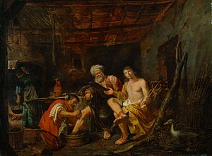 Philip Gyselaer - Mercury and Jupiter in the House of Philemon and Baucis