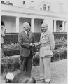 Photograph of President Truman shaking hands with Field Marshal Viscount Montgomery of Alamein (Bernard Montgomery)... - NARA - 199427.tif