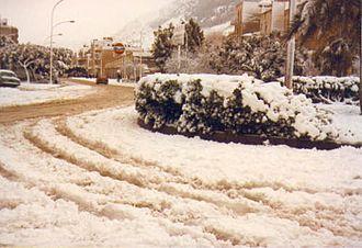 Alcamo - One of the rare snowfalls in Alcamo (8 January 1981)