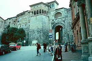 Piazza Fortebraccio, Perugia, Italy