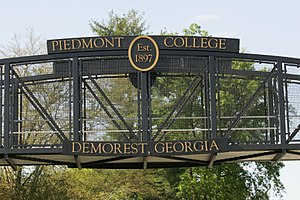Piedmont College - The pedestrian footbridge at Piedmont College connects to pieces of campus which are separated by Historic U.S. 441 Highway.