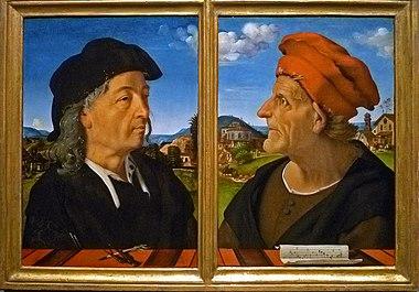 Piero di Cosimo - Dubbelportret van Giuliano en Francesco Giamberti da Sangallo 001.JPG