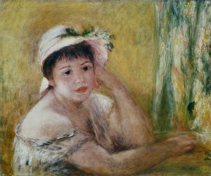 Fichier:Pierre-Auguste Renoir - Femme au chapeau de paille.jpg