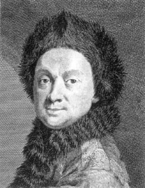 "Pierre Louis Maupertuis - Maupertuis, wearing ""lapmudes""  from his Lapland expedition."