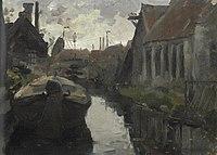 Piet Mondriaan - Lange Bleekerssloot with barge - A180 - Piet Mondrian, catalogue raisonné.jpg