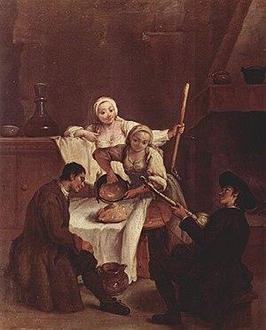 Polenta, by Pietro Longhi