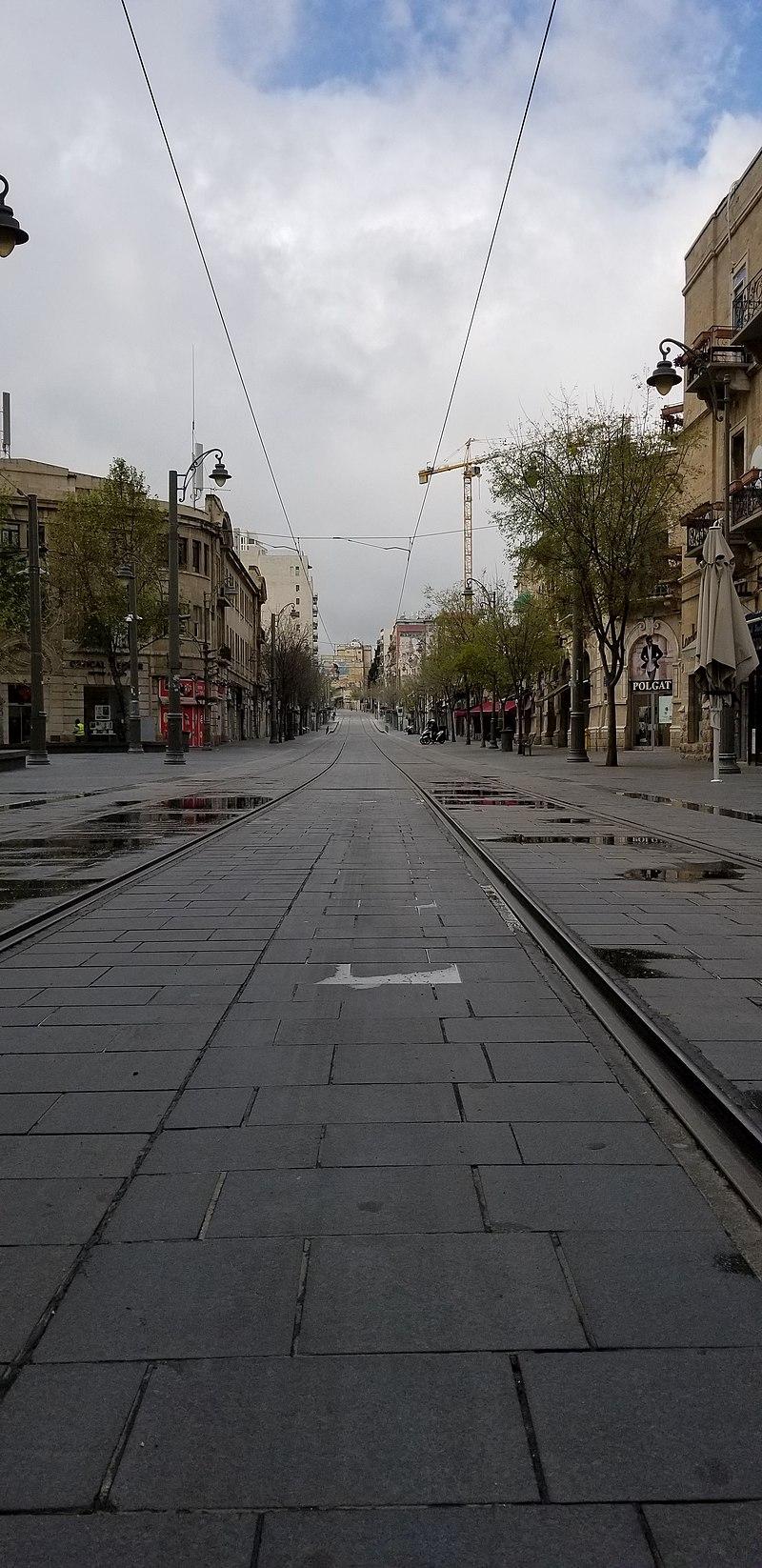 רחוב יפו ירושלים קורונה