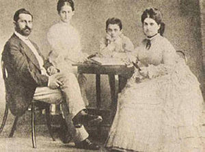 Theodor Herzl - Herzl and his family, c. 1866–1873