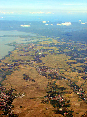 Pila, Laguna - Aerial view of Pila with Sta Cruz in background