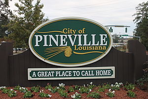 Pineville, Louisiana - Image: Pineville, LA welcome sign IMG 4373