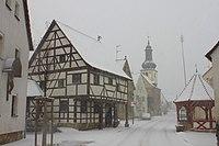 Pinzberg Hauptstraße Schnee.JPG