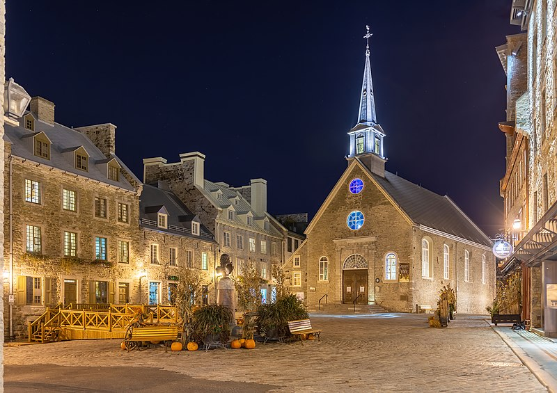 File:Place Royale at night, Vieux-Québec, Quebec ville, Canada.jpg