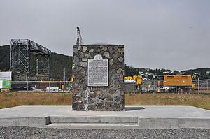 Fort Frederick (Newfoundland) - Fort Frederick historical marker