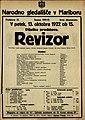 Plakat za predstavo Revizor v Narodnem gledališču v Mariboru 13. oktobra 1922.jpg
