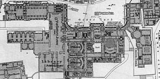 Parliament House, Edinburgh - 1877 Plan of the complex, including Parliament Hall, the Signet Library and the Advocates' Library