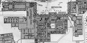 1877 Plan of the complex, including Parliament Hall, the Signet Library and the Advocates' Library