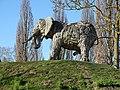 Planckendael zoo Elephant statues 02.jpg