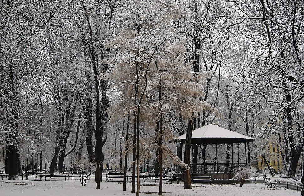 Planty Garden, pavilion, Old Town, Krakow, Poland